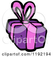 Cartoon Of A Wrapped Gift Royalty Free Vector Illustration