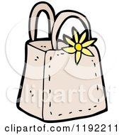 Cartoon Of A Ladies Bag Royalty Free Vector Illustration