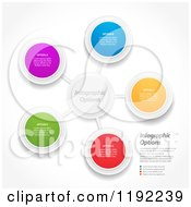 Clipart Of Infographic Networked Circles With Sample Text Vector File And Experience Recommended Royalty Free Vector Illustration