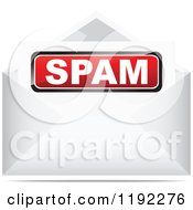 Clipart Of A Spam Letter In An Envelope Royalty Free Vector Illustration by Andrei Marincas
