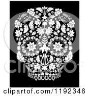 Clip Art Of The Day Of The Dead Poster Royalty Free Vector Illustration by lineartestpilot