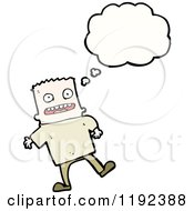 Cartoon Of A Boy With A Crew Cut Thinking Royalty Free Vector Illustration