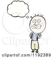 Cartoon Of A Man Wearing Suspenders Thinking Royalty Free Vector Illustration