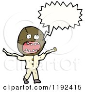 Cartoon Of A Crazy Black Man Royalty Free Vector Illustration by lineartestpilot
