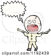 Cartoon Of A Crazy Man Speaking Royalty Free Vector Illustration by lineartestpilot