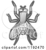 Clipart Of A Silver House Fly Royalty Free Vector Illustration by Lal Perera