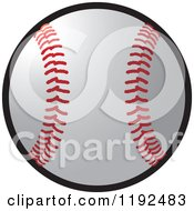 Clipart Of A Baseball Royalty Free Vector Illustration
