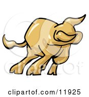 Bull Market Clipart Illustration