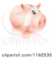 Cartoon Of A Happy Piggy Bank Smiling Royalty Free Vector Clipart