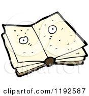 Cartoon Of An Open Book Royalty Free Vector Illustration