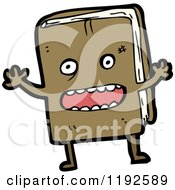 Cartoon Of A Book Royalty Free Vector Illustration by lineartestpilot