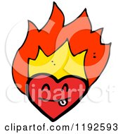 Cartoon Of A Flaming Heart Royalty Free Vector Illustration by lineartestpilot #COLLC1192593-0180