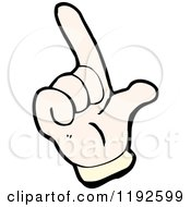 Cartoon Of A Hand Doing Sign Language Royalty Free Vector Illustration