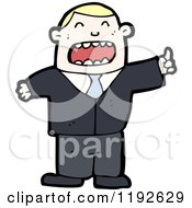 Cartoon Of A Businessman In A Suit Royalty Free Vector Illustration