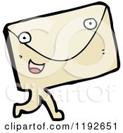 Cartoon Of An Envelope With A Face Royalty Free Vector Illustration