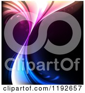 Clipart Of A Gradient Colorful Splash Over Black Royalty Free Vector Illustration