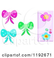Colorful Bows And Flowers