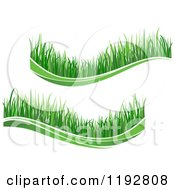 Clipart Of Green Grass Waves 2 Royalty Free Vector Illustration