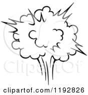 Clipart Of A Black And White Comic Burst Explosion Or Poof 3 Royalty Free Vector Illustration