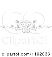 Clipart Of A Black And White Ornate Swirl Border Design Element 4 Royalty Free Vector Illustration