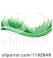 Clipart Of A Green Grass Wave 4 Royalty Free Vector Illustration