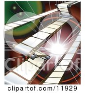 Internet Background Of Movie Or Camera Film Clipart Illustration by AtStockIllustration
