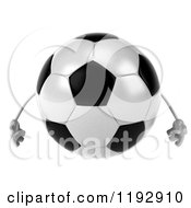 Clipart Of A 3d Soccer Ball Mascot Royalty Free CGI Illustration by Julos