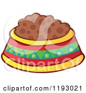 Cartoon Of A Mexican Pet Food Bowl Dish Royalty Free Vector Clipart
