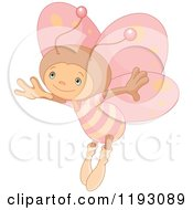 Cartoon Of A Cute Butterfly With Pink Wings Royalty Free Vector Clipart by Pushkin