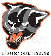 Clipart Of A Growling Panther Head Royalty Free Vector Illustration by patrimonio