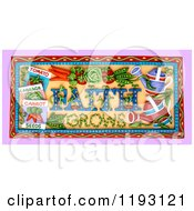 Clipart Of A 3d Faith Grows Garden Scene Royalty Free CGI Illustration