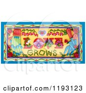 Poster, Art Print Of 3d Love Grows Garden Scene