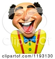 Poster, Art Print Of 3d Balding Man Laughing Out Loud