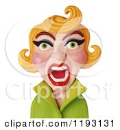 Clipart Of A 3d Screaming Blond Woman Royalty Free CGI Illustration by Amy Vangsgard #COLLC1193131-0022