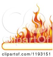 Clipart Of A Flame Banner With Copyspace Royalty Free Vector Illustration