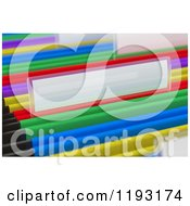 Clipart Of 3d Blank Labels On Colorful Hanging File Folders In A Cabinet Royalty Free CGI Illustration by stockillustrations