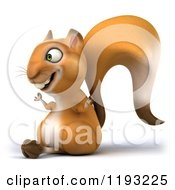 Clipart Of A 3d Happy Squirrel Meditating 2 Royalty Free CGI Illustration