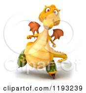 3d Yellow Dragon Roller Blading