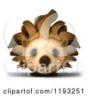 Clipart Of A 3d Happy Hedgehog Smiling Royalty Free CGI Illustration