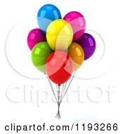 Clipart Of A Bunch Of 3d Colorful Party Balloons Royalty Free CGI Illustration