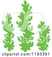 Cartoon Of Green Seaweed Royalty Free Vector Clipart
