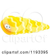 Cartoon Of A Crab In A Yellow Shell Royalty Free Vector Clipart by Alex Bannykh