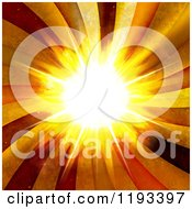 Clipart Of A Bright Burst With Grungy Rays Royalty Free CGI Illustration