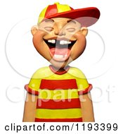 3d Boy Laughing And Showing Some Missing Teeth
