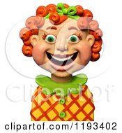 Clipart Of A 3d Happy Red Haired Girl Smiling Royalty Free CGI Illustration