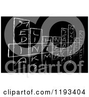 Clipart Of A Black And White Sketched Internet Word Crossword Puzzle Royalty Free CGI Illustration by MacX