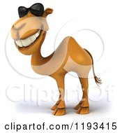 Clipart Of A 3d Camel Smiling And Wearing Sunglasses Royalty Free CGI Illustration