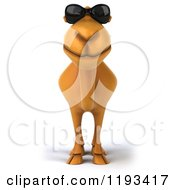 Clipart Of A 3d Camel Wearing Sunglasses Royalty Free CGI Illustration
