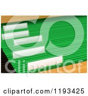 Clipart Of 3d Blank Labels On Hanging Green File Folders In A Cabinet Royalty Free CGI Illustration