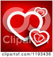 Clipart Of A Background Of Red And White Hearts Royalty Free Vector Illustration